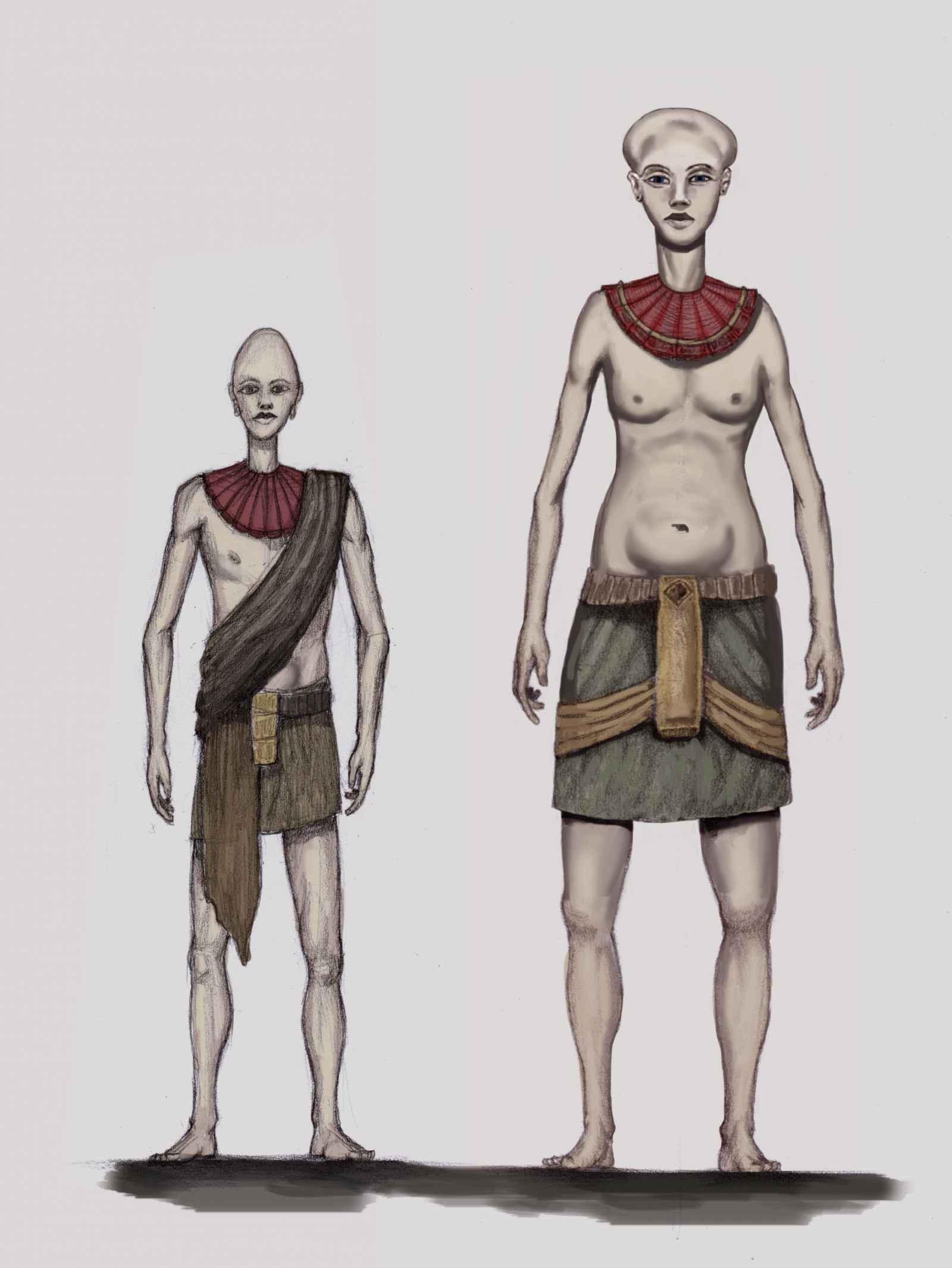 "Verschillende types ""Pre-Adamieten"""