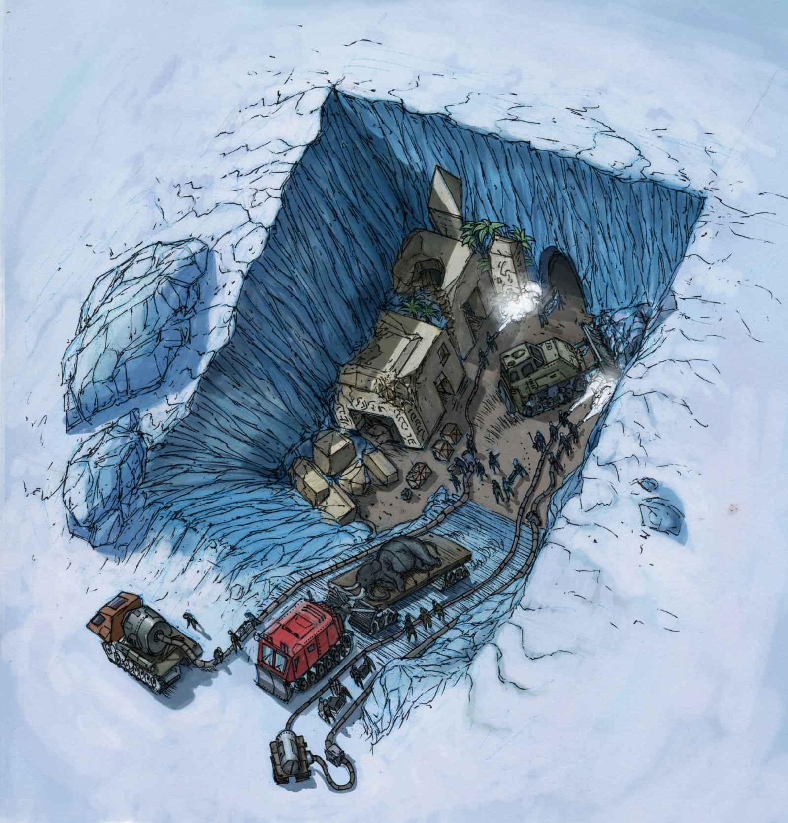 Oude beschaving ontdekt onder Antarctica?